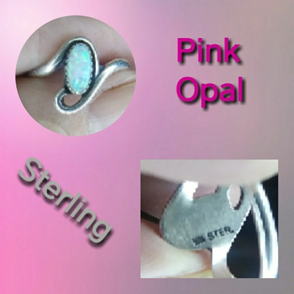 Jewelry - Pink Opal & Sterling Ring